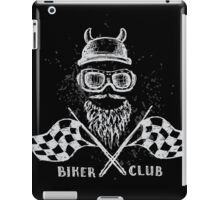 Biker tattoo or emblem hand drawn iPad Case/Skin