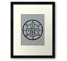 ASTAROTH - distressed black Framed Print