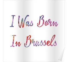 I was born in Brussels Poster