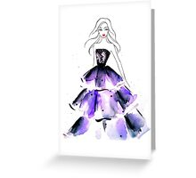 Purple Gown Greeting Card