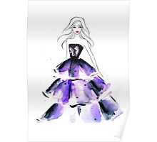 Purple Gown Poster