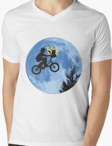 ET movie mashup with Pokemon Mens V-Neck T-Shirt