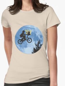 ET movie mashup with Pokemon Womens Fitted T-Shirt