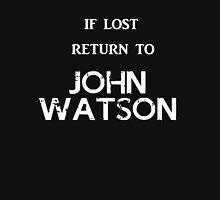 If Lost Return to John Watson / BBC Sherlock Women's Fitted V-Neck T-Shirt
