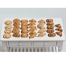 Miniature Croissants for Breakfast Photographic Print