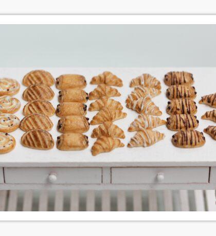 Miniature Croissants for Breakfast Sticker