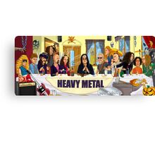 The Heavy Metal Supper Canvas Print