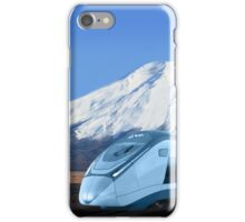 Intercity train with Mount Fuji background iPhone Case/Skin