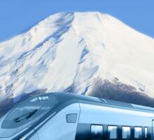 Intercity train with Mount Fuji background Sticker