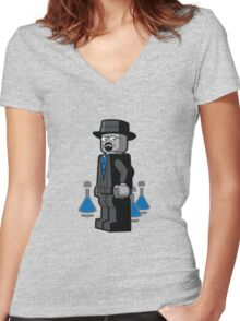 Breaking Bad Lego Women's Fitted V-Neck T-Shirt