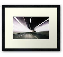 freeway timewarp Framed Print