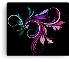 Purple and Pink Colorful Flourish  Canvas Print
