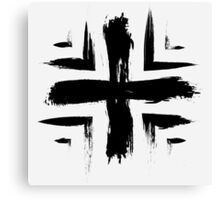 Plus Symbol - Black Edition Canvas Print