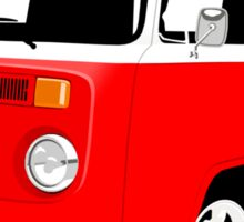 VW Camper Late Bay red and white Sticker