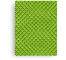 Green Dragon Scales Pattern Canvas Print