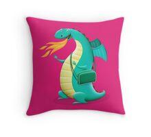 Sunshine Dragon Throw Pillow