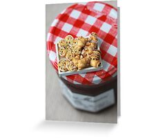 Pass the Jam and Miniature Croissants Greeting Card