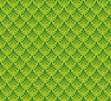 Green Dragon Scales Pattern by XOOXOO