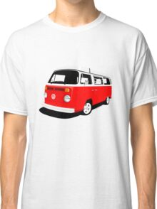 VW Camper Late Bay red and white Classic T-Shirt