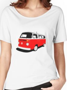 VW Camper Late Bay red and white Women's Relaxed Fit T-Shirt