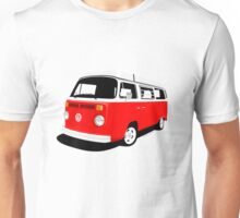 VW Camper Late Bay red and white Unisex T-Shirt