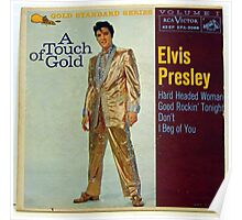 Elvis Presley A Touch Of Gold  EP cover, Gold Suit Poster