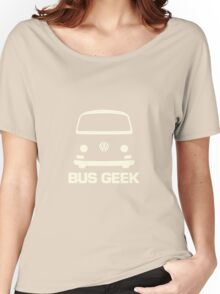 VW Camper Bay Bus Geek Cream Women's Relaxed Fit T-Shirt