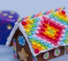 Rainbow House Sticker