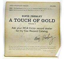 Elvis Presley A Touch Of Gold  EP back cover,signature Poster