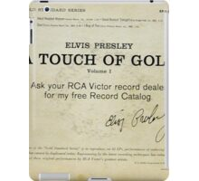 Elvis Presley A Touch Of Gold  EP back cover,signature iPad Case/Skin