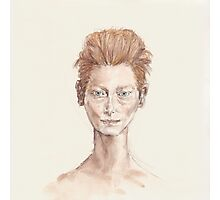 Tilda Red Head Face Portrait Drawing Photographic Print