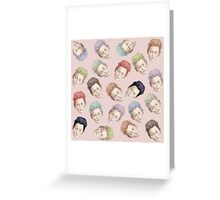 Tilda Heads and Hair Color Greeting Card