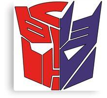 Transformers Autobot/Decepticon Canvas Print