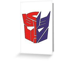 Transformers Autobot/Decepticon Greeting Card