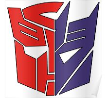 Transformers Autobot/Decepticon Poster