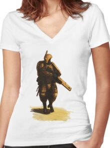 Tau - Fire Warrior Women's Fitted V-Neck T-Shirt