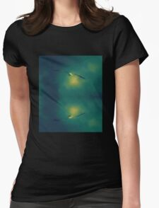 Seagull reflection Womens Fitted T-Shirt