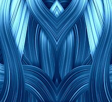 Abstraction in blue by harietteh