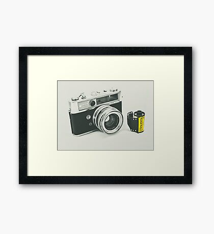 Retro photography Framed Print