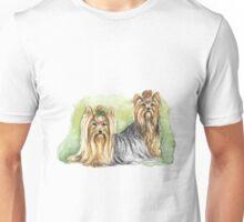Watercolor yorkshire terrier Unisex T-Shirt