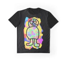 Dude in a field full of colors. Graphic T-Shirt