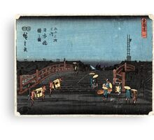 Dawn At Nihonbashi - Hiroshige Ando - 1848 - woodcut Canvas Print