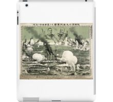 Destruction Of Russian Fleet Of War Vessels - anon - 1904 - chromolithograph iPad Case/Skin