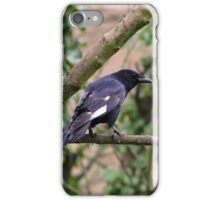 Crow with white wings iPhone Case/Skin