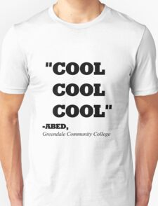 "COMMUNITY ABED ""COOL COOL COOL"" T-Shirt"