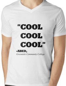 "COMMUNITY ABED ""COOL COOL COOL"" Mens V-Neck T-Shirt"