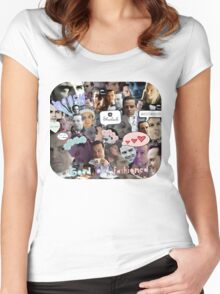Moriarty (Collage) Women's Fitted Scoop T-Shirt