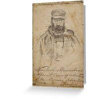 Josep Lluís Pellicer, Barcelona,  Portrait correspondent Neocles G. Mussabini Greeting Card