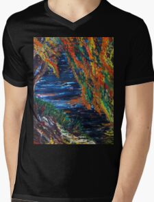 Boston and Colors of Fall Mens V-Neck T-Shirt