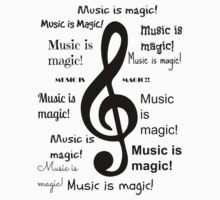 Music is magic all over Kids Clothes